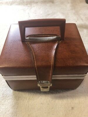 Saloy8 Track Tape Brown Vinyl Carrying Case Holds 12 Tapes, 12 Tapes Included