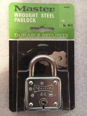 Vintage Master Lock No  66 Padlock New Old Stock Keys