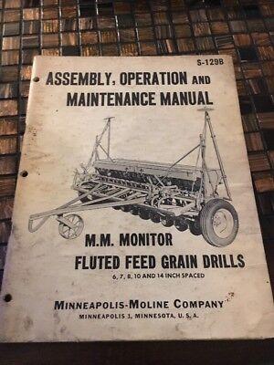 Assemblyoperation And Maintenance Manual S-129b Monitor Fluted Feed Grain Drill