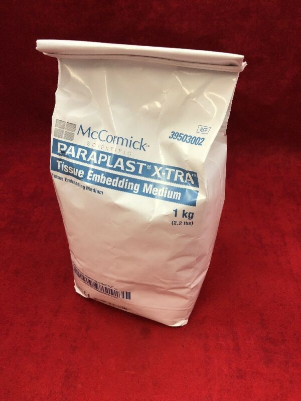 New Mccormick Paraplast X-tra Tissue Embedding Medium 1kg 2.2lbs 39503002