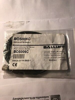 Balluff Bmoa-05tm-b800-1 Miniature Photoelectric Sensor Bmoa05tmb8001 New Ss3