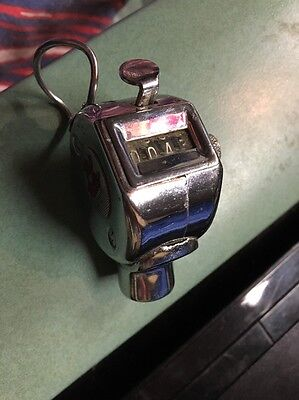 Vintage Passenger tap Tally Counter Used On Train Bus Trolley Cable Car chrome
