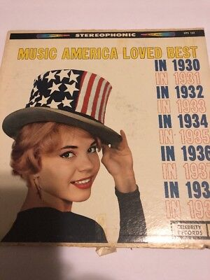 Music America Loved Best In 1930 To 1939 33 LP Record