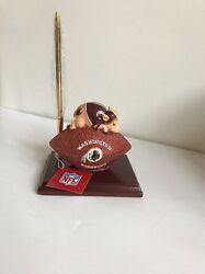 Washington Redskins Mascot Football Desk Set/Clock NEW
