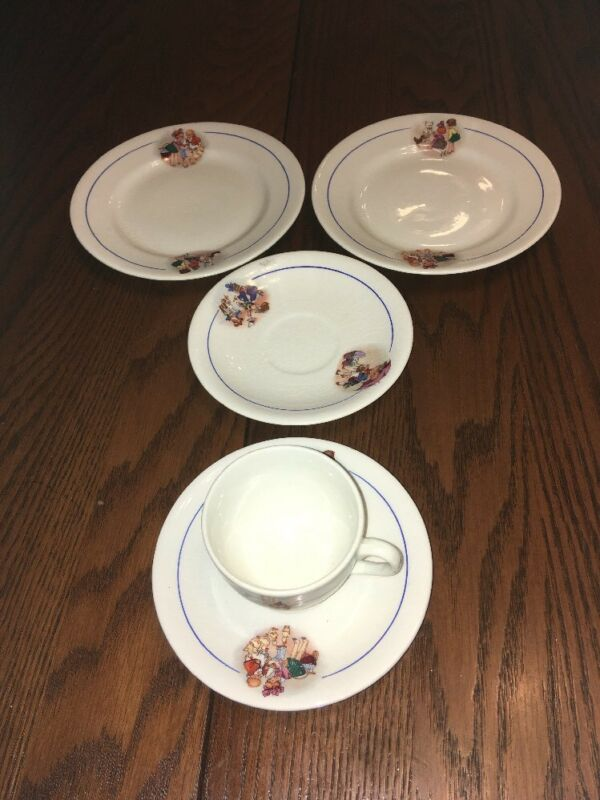 Vintage CP Co Children's Teacup and Saucers