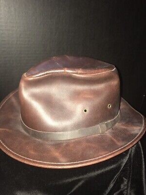 Henschel Safari Hat Waxed Olive Brown Cotton Men's Small Made in (Henschel Olive)