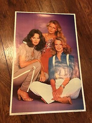 Charlie's Angels Cheryl Ladd Shelley Hack Jaclyn Smith Poster Bi-Rite MINT!