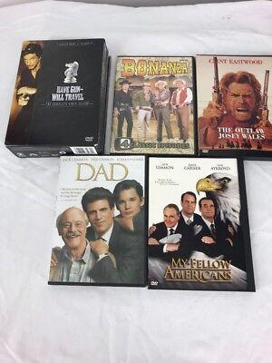Dvd Lot Grandpa Westerns Lot Outlaw Josey Wales Bonanza My Fellow Americans Dad