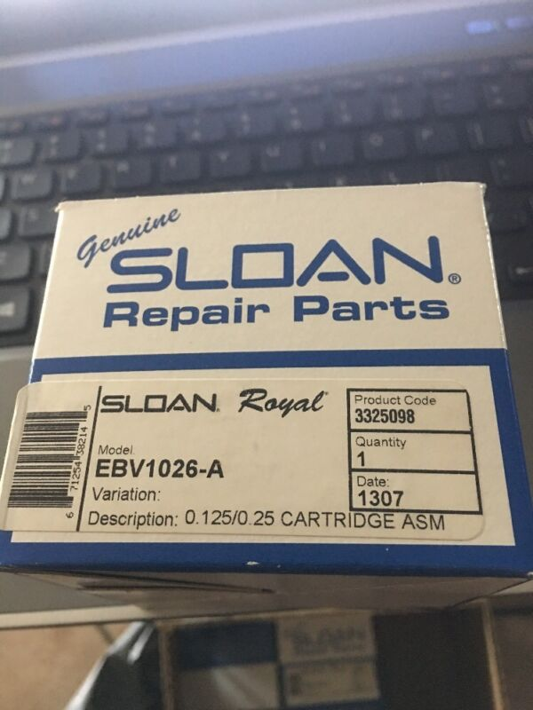 NEW Sloan Ebv-1026-A Cartridge Assembly Ecos And Solis 0.125 / 0.25 Cartridge