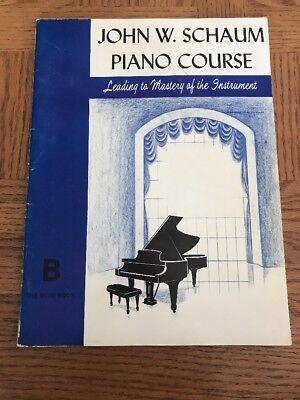 John W. Schaum Piano Course The Blue Book