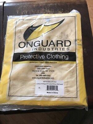 Onguard 2 Piece Pvcnylon Protective Clothing Suit Size Xl