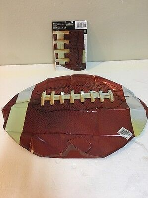 (2) Football Shaped Balloon - Super Bowl Sports Themed Birthday Party Supplies