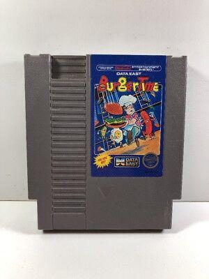 Burgertime Burger Time -- NES Nintendo Original Game CLEAN TESTED GUARANTEED