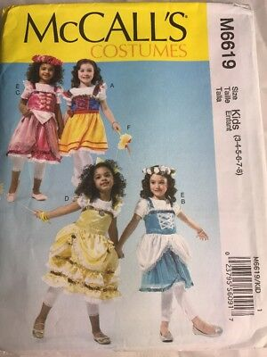 Heidi Costume Child (M6619 Mccall's Sewing Pattern For A 3-8 Child Heidi Gretel Snow White)