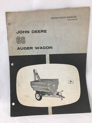 John Deere 68 Auger Wagon Operators Manual Jd Om-c18673