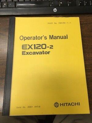Hitachi Ex120-2 Excavator Operator Operation Maintenance Manual