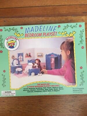 "Madeline 8"" Doll Folding Bedroom Playset NEW IN BOX RARE Eden W Furniture"