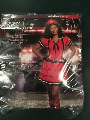 Fireman Costume Woman (Halloween Costume Woman's Firefighter Small)