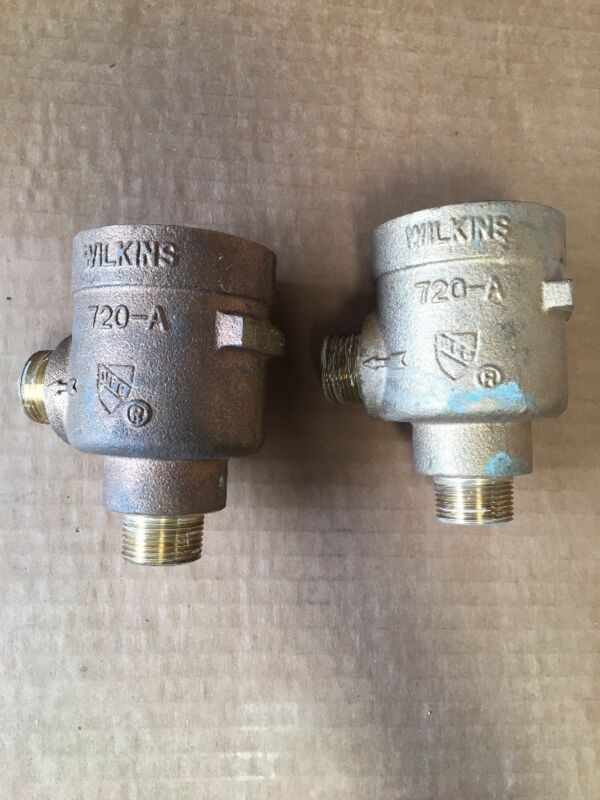 "Lot Of 2 Wilkins Zurn 3/4"" Brass Body For Pressure Vacuum Breaker Assembly 720A"