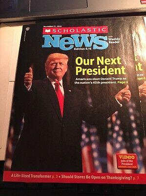 Scholastic News PRESIDENT DONALD TRUMP US NOVEMBER 2016