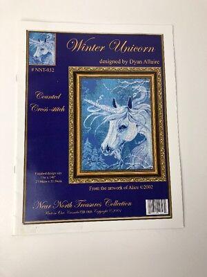 Near North Treasures - Winter Unicorn - Counted Cross Stitch - Dyan Allaire  Dyan Allaire Cross Stitch