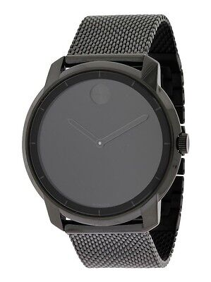 New Movado Bold Black Ion Stainless Steel Mesh Bracelet Men's Watch 3600261