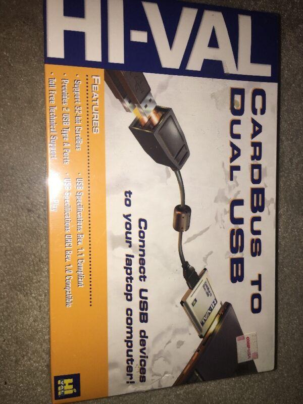 Hi-VAL CARDBUS DUAL USB