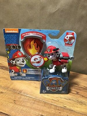New - Nickelodeon  Paw Patrol Action Pack Pup & Badge Marshall