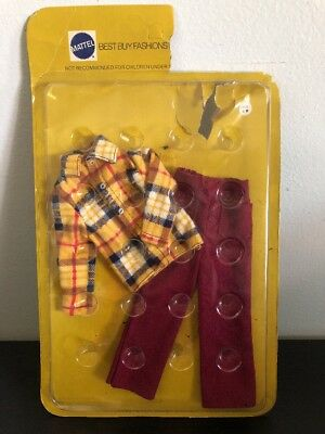7759 VINTAGE Mattel 1972 KEN & BRAD BEST BUY FASHIONS PANTS FLANNEL CLOTHES NRFB