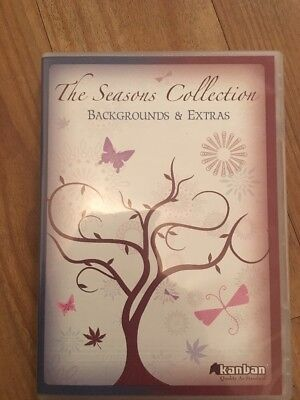 KANBAN THE SEASONS COLLECTION - BACKGROUNDS AND EXTRAS AUTUMN SPRING CD ROM