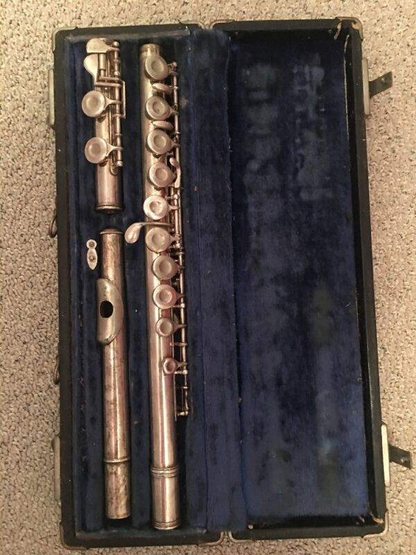 RARE OLD VINTAGE FLUTE ITALY ITALIAN WITH CASE