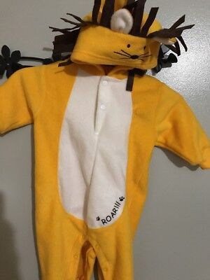 Infant Baby Size 6-9 Months Lion Fleece Halloween Costume Jumpsuit  EUC (Infant Costumes 6 9 Months)