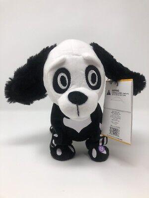 Gemmy Animated Skeleton Dog Black White Dances Halloween MJ Thriller Music - Gemmy Halloween Dancing Skeleton