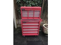 Roller Tool Cabinet and Chest With Tools