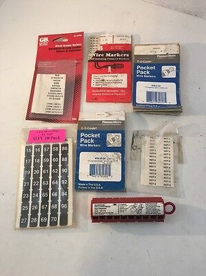 Gb Garner Bender Tb Wire Markers Circuit Breaker Marker Lot B He1