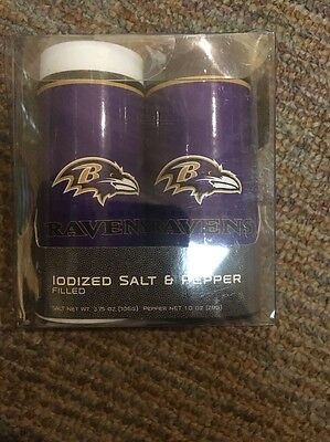 Baltimore Ravens Salt & Pepper Shakers - NFL Baltimore Ravens Salt