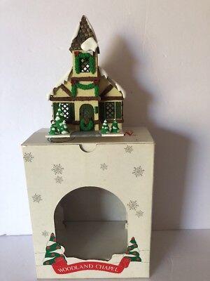 "Vintage DEPT 56 Hide A Way Hollow ""WOODLAND CHAPEL"" Christmas Village #5355-4"