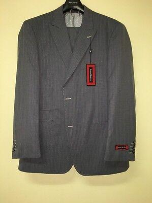 Bnwt Steve Harvey 42S Gray Fashion Pinstripe Exotic Quality Suit Wow 2Pc 202