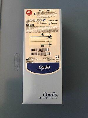 Cordis Avanti Introducers Transradial Kit 4f Ref 504-614x Box W5 Units