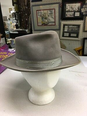 Vintage Stafford Club S & L De Luxe Fedora Hat Size 7 Clean gray Band & edging