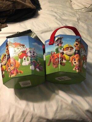 Paw Patrol Medium Paperboard Bucket Basket Halloween/Easter/Christmas Lot - Paw Patrol Halloween Bucket