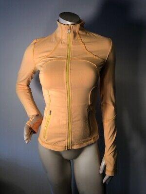 EUC Lululemon Burning Yellow Forme Jacket Women's Size 2 Define Luon Bin-P