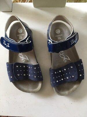 LIU JO GIRL - Blue Suede Patent Leather Shoes Sandals. Size -9.5 US / 26 EUR.EUC