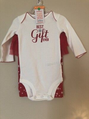 Carters Baby Girl Snowflake Christmas outfit Body Suit & Pants
