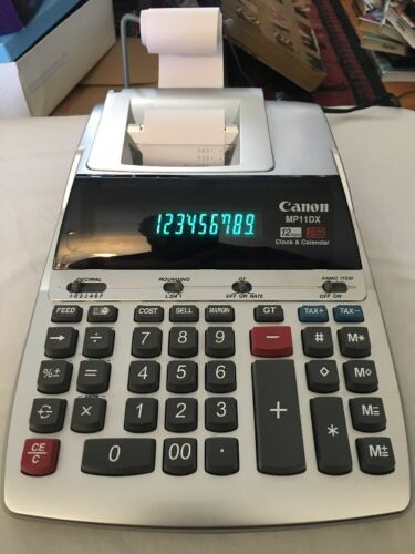 Canon MP11DX 12-Digit Electric Desktop Printing Calculator Used- Tested