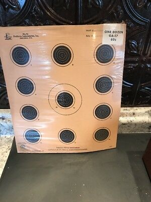 A-17 NRA Official 50 Foot small bore rifle target NOS -