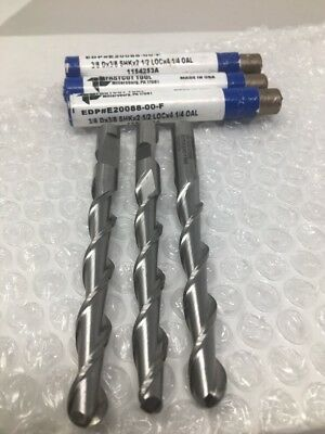 LOC: 2 OAL: 4 - 2 Flute Mill Dia.: 1//2 Inch Sizes Long Aluminum Cutting End Mills Sk Dia.: 1//2