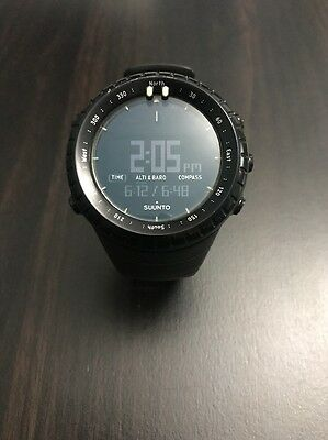 Suunto Core all black military Watch Used Condition with Free Shipping