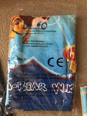 NEW BUILD A BEAR Beach Or Bath Towel NWT Scuba Diving Bear Rare Item - Build A Bear Items