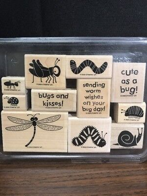 Bugs And Kisses (BUGS AND KISSES Stampin' Up! Mounted Rubber Stamp Set Dragonfly)
